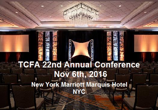 第二十二届全美华人金融协会(TCFA)年度会议将于2016年11月6日在纽约举行