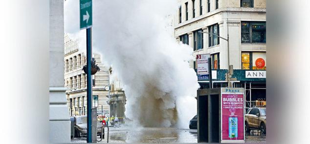 曼哈顿蒸汽管爆炸事件 天降及时雨助清除石棉