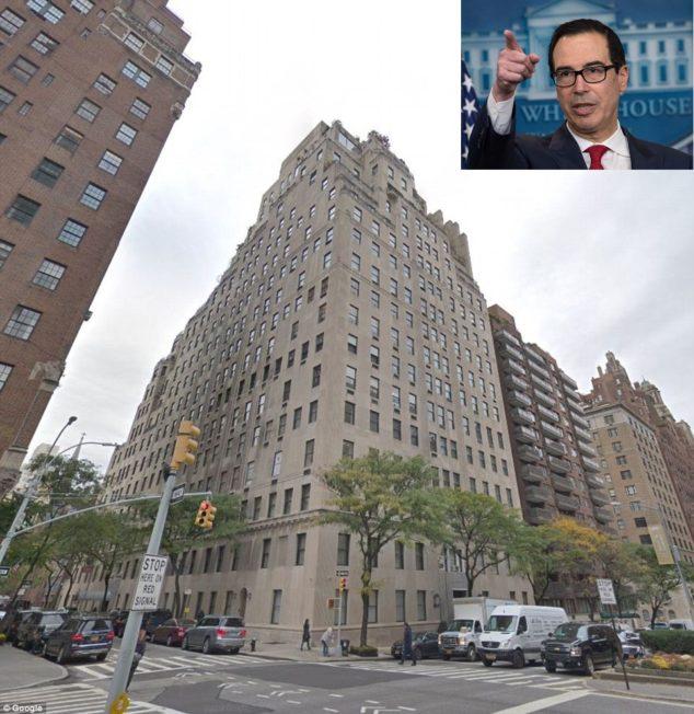18年价格翻了三倍 !美国财长姆努钦挂牌出售纽约曼哈顿豪宅
