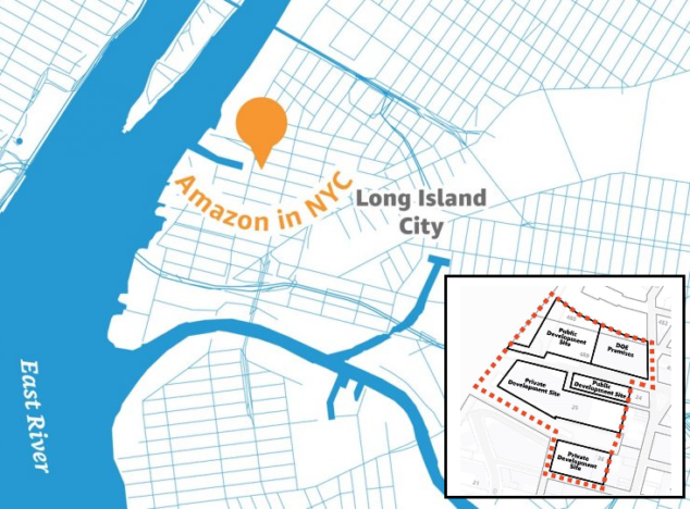 定了!纽约长岛市和华盛顿郊区水晶市确定为亚马逊第二总部